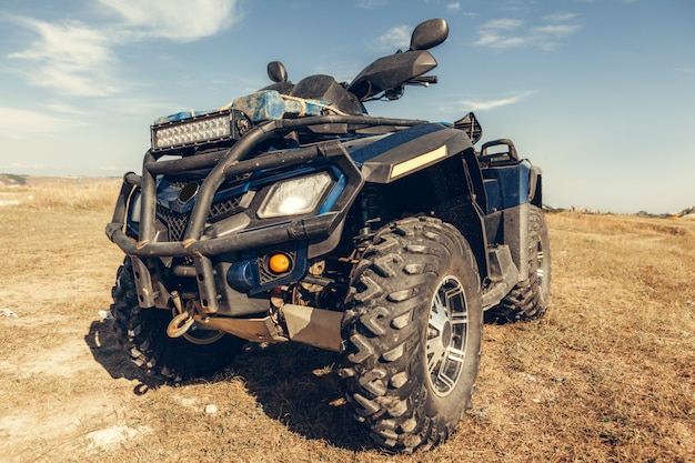 Close-up staart weergave van atv quad.