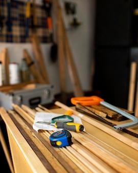 Close-up tools in werkplaats