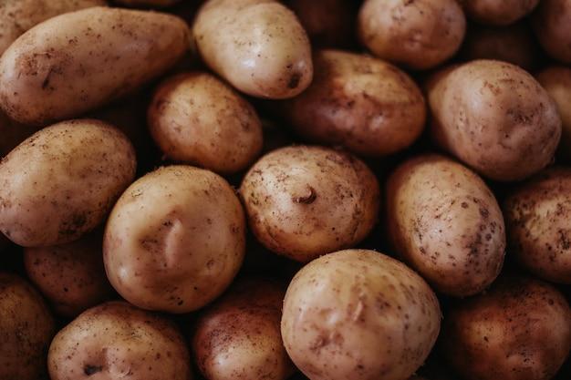 Close-up van aardappelen