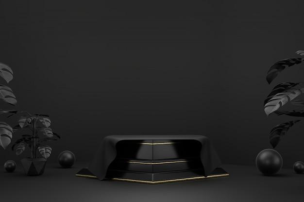 Close-up van abstracte platform podium