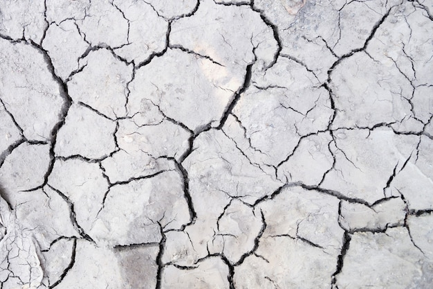 Close-up van barst op droge grondachtergrond