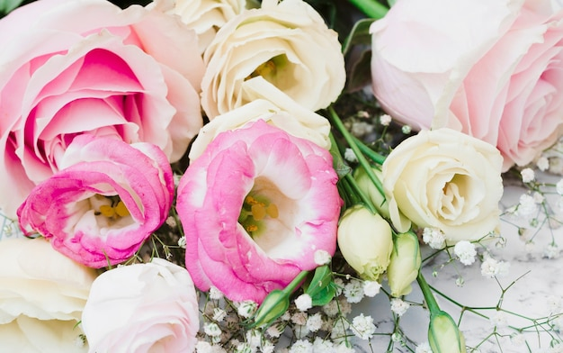 Close-up van bloemboeket