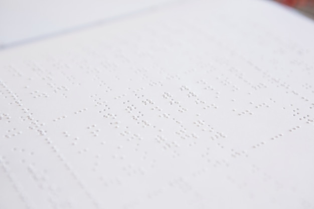 Close-up van braille-boek