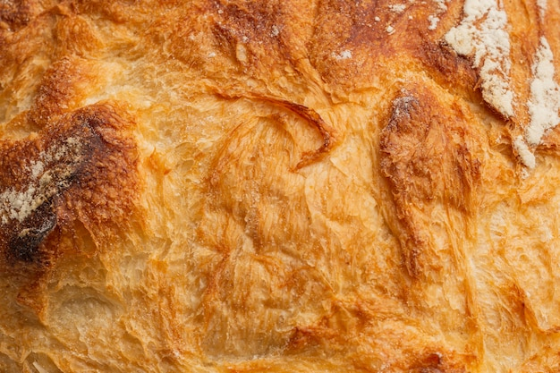Close-up van broodkorst