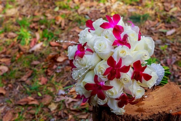 Close up van bruiloft boeket abstract, band, trouwen, plant, beauty lace romantic