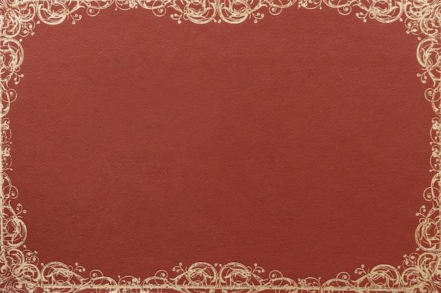 Close-up van bruine groetkaart met ontwerp