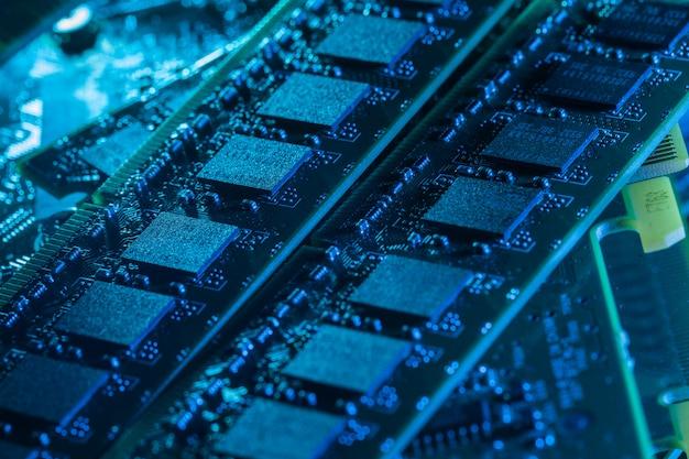 Close-up van computeronderdelen
