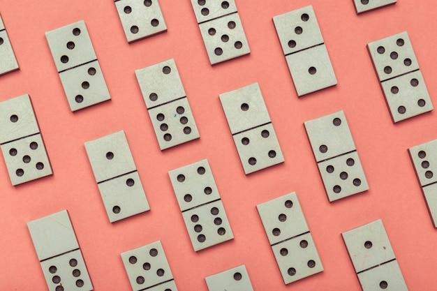 Close-up van de achtergrond van het dominospel