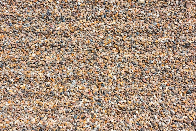 Close-up van de achtergrond van strandkiezelstenen