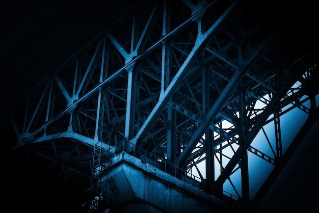 Close-up van de brugstructuur, chongqing yangtze river bridge