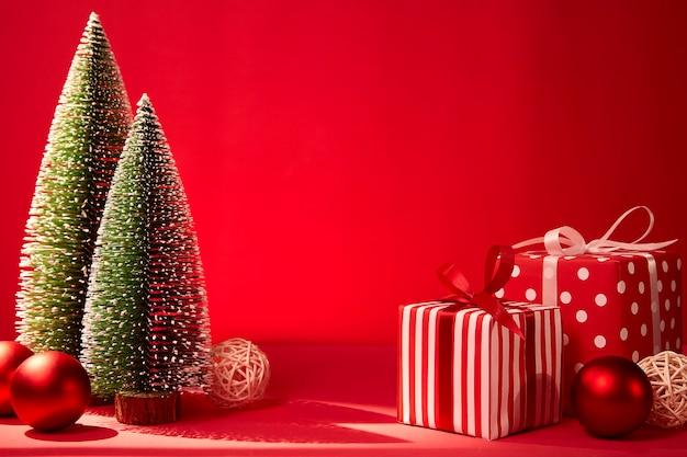 Close-up van de dozen van de kerstmisgift