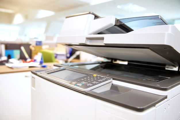 Close-up van de paneelbodems van de kopieermachine