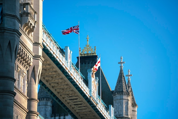 Close-up van de tower bridge in londen, verenigd koninkrijk