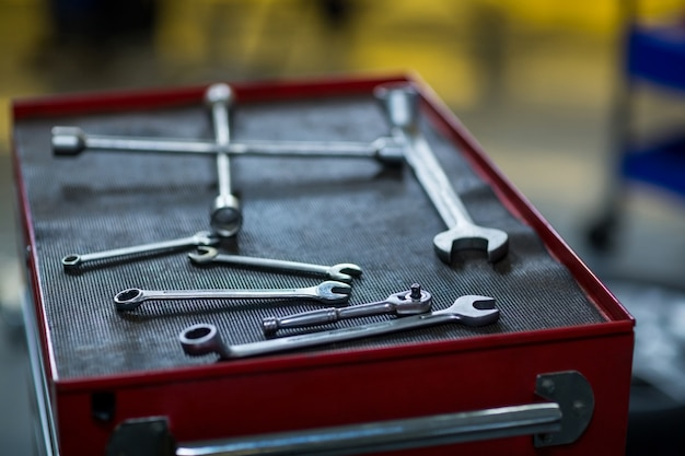 Close-up van de verschillende instrumenten
