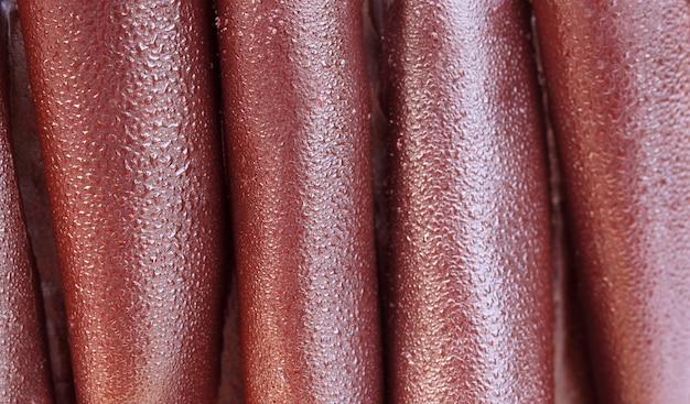 Close up van een chocoladetaart oppervlak