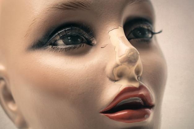 Close-up van een dummy
