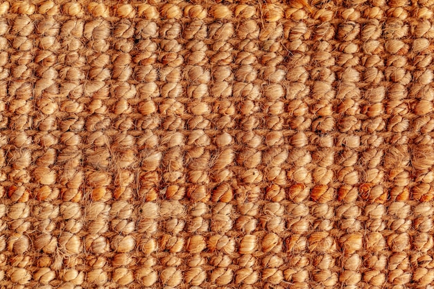 Close up van een jute tapijt als achtergrond