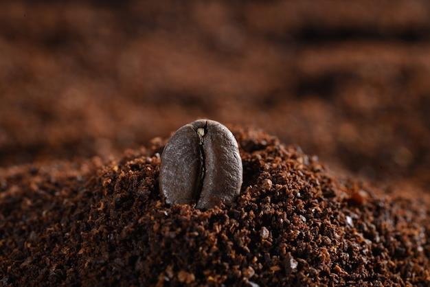 Close-up van een koffieboon