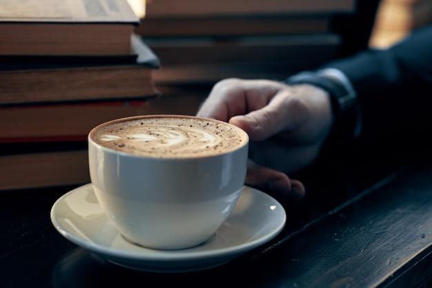 Close-up van een kopje koffie