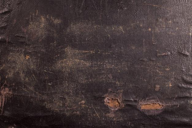 Close-up van een oude canvaskoffer