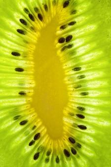 Close-up van een rijpe sappige kiwiplak
