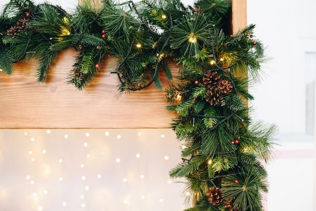 Close-up van een stijlvolle kerst versiering