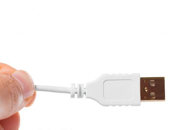 Close-up van een usb-kabel