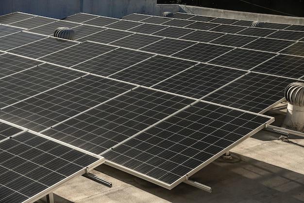 Close-up van fotovoltaïsche energiecentrales