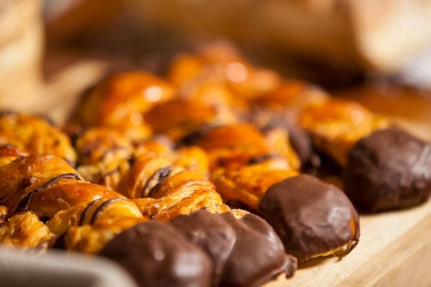 Close-up van gebakken zoet voedsel