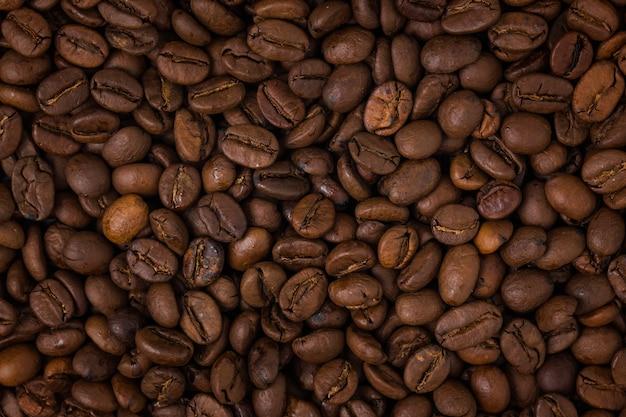 Close-up van gebrande koffiebonen