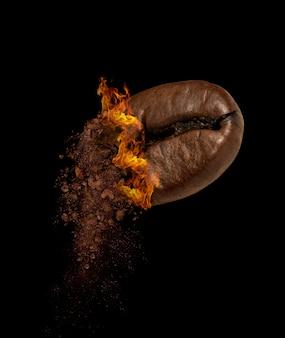 Close-up van gebrande koffieboon