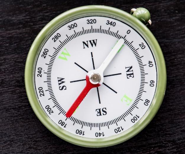 Close-up van geïsoleerd kompasnavigatiehulpmiddel
