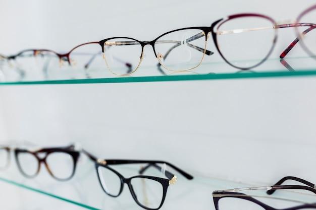 Close-up van gekleurde frames op het display
