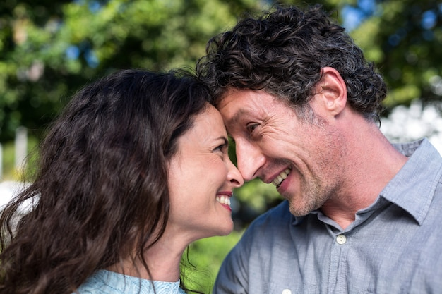 Close-up van gelukkige paar