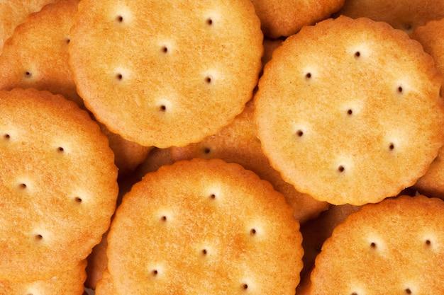 Close-up van gezonde crackers. achtergrond of textuur