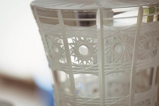 Close-up van glaswerk