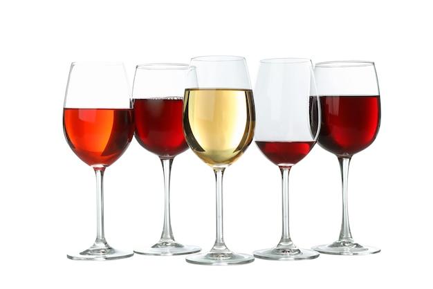 Close-up van glazen wijn