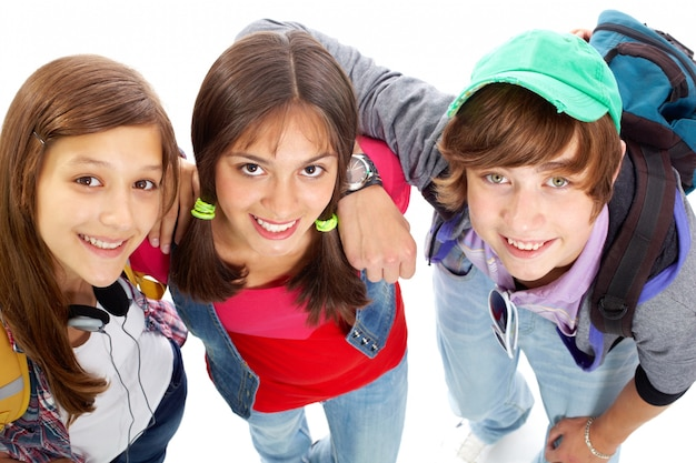Close-up van glimlachende tieners