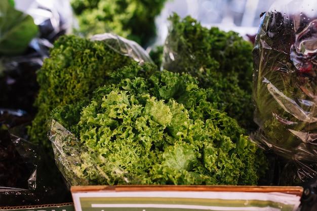 Close-up van groene boerenkool