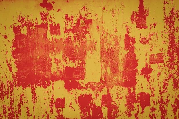 Close-up van grunge oranje metalen textuur
