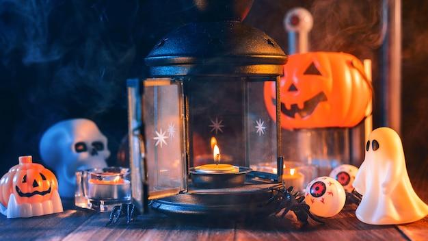 Close up van halloween vakantie griezelige decoraties