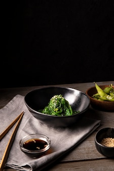 Close-up van heerlijk aziatisch eten