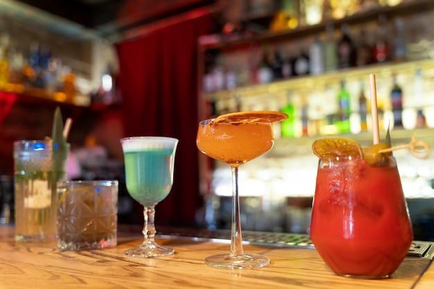 Close-up van heerlijke drankjes