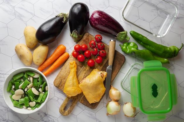 Close-up van heerlijke maaltijdbereiding
