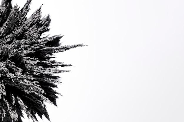 Close-up van het magnetische metaal scheren op witte achtergrond
