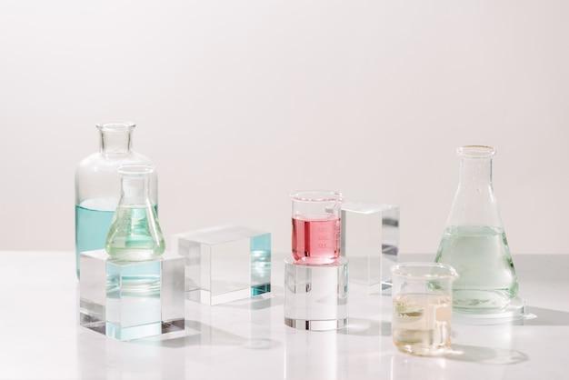 Close-up van het proces van het maken van parfums
