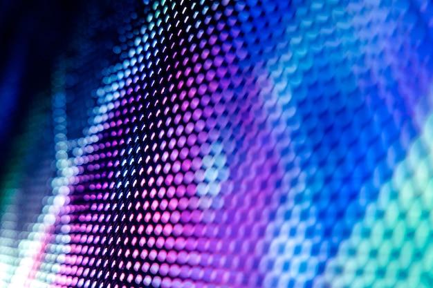 Close-up van het wazige led-scherm
