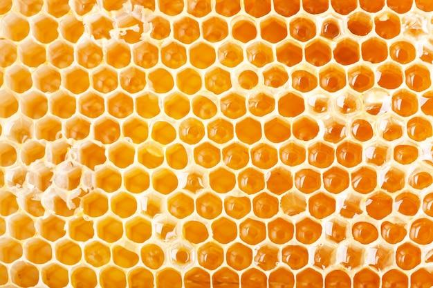Close-up van honingraat als