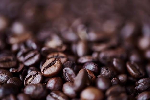 Close up van intreepupil koffieboon