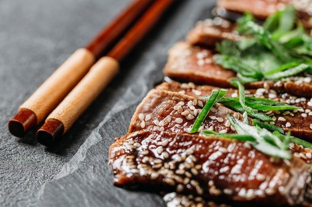 Close-up van japanse maaltijdregeling